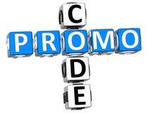 Palavras cruzadas do código do Promo Fotografia de Stock