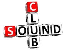 palavras cruzadas do clube do som 3D Imagem de Stock