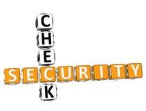 Palavras cruzadas do controlo de segurança Fotos de Stock