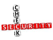 Palavras cruzadas do controlo de segurança Imagem de Stock
