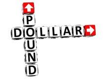 palavras cruzadas do dólar da libra 3D Foto de Stock Royalty Free