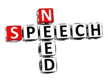 palavras cruzadas do discurso da necessidade 3D Imagem de Stock Royalty Free