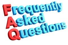 Palavras cruzadas do FAQ Foto de Stock Royalty Free