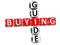 Palavras cruzadas do guia de compra Fotografia de Stock