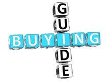 Palavras cruzadas do guia de compra Imagens de Stock