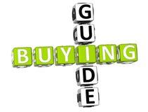 Palavras cruzadas do guia de compra Imagem de Stock Royalty Free