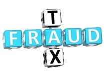 palavras cruzadas do imposto da fraude 3D Fotografia de Stock