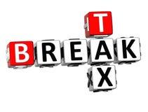 palavras cruzadas do imposto da ruptura 3D Imagem de Stock