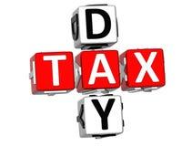 palavras cruzadas do imposto do dia 3D Imagens de Stock
