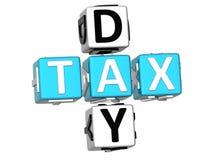 palavras cruzadas do imposto do dia 3D Foto de Stock Royalty Free
