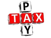 palavras cruzadas do imposto do pagamento 3D Imagens de Stock