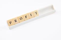 Palavras cruzadas do lucro isoladas no branco Foto de Stock Royalty Free