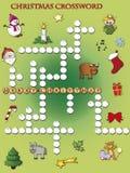 Palavras cruzadas do Natal Fotografia de Stock Royalty Free