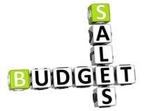 palavras cruzadas do orçamento de vendas 3D Imagens de Stock