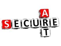 palavras cruzadas do perigo da segurança 3D Imagem de Stock