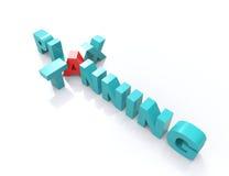 Palavras cruzadas do planeamento fiscal Fotografia de Stock