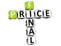 palavras cruzadas do preço 3D final Foto de Stock