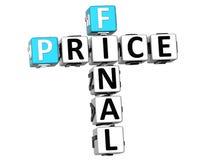 palavras cruzadas do preço 3D final Fotografia de Stock Royalty Free