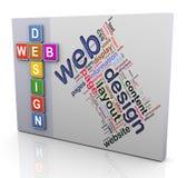 Palavras cruzadas do projeto de Web Imagem de Stock Royalty Free