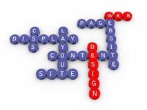 Palavras cruzadas do projeto de Web Imagens de Stock