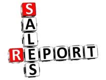 palavras cruzadas do relatório de vendas 3D Imagem de Stock Royalty Free