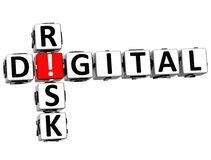 palavras cruzadas do risco de 3D Digitas Imagens de Stock