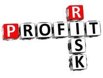 palavras cruzadas do risco do lucro 3D Fotografia de Stock Royalty Free