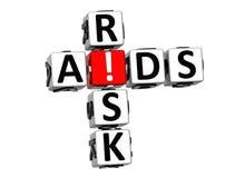 palavras cruzadas do risco do SIDA 3D Imagem de Stock Royalty Free