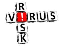 palavras cruzadas do risco do vírus 3D ilustração royalty free