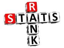 palavras cruzadas do Stats do grau 3D Fotografia de Stock