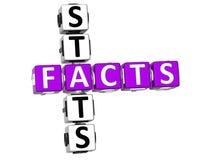 palavras cruzadas do Stats dos fatos 3D Fotos de Stock Royalty Free