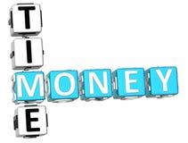 Palavras cruzadas do tempo do dinheiro Fotos de Stock Royalty Free