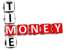 Palavras cruzadas do tempo do dinheiro Fotografia de Stock