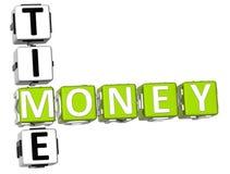 Palavras cruzadas do tempo do dinheiro Foto de Stock