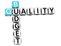 palavras cruzadas do texto da qualidade do orçamento 3D Fotografia de Stock