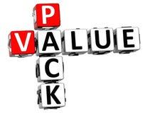 palavras cruzadas do valor do bloco 3D no fundo branco Fotos de Stock Royalty Free