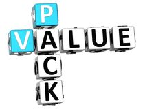 palavras cruzadas do valor do bloco 3D no fundo branco Foto de Stock Royalty Free