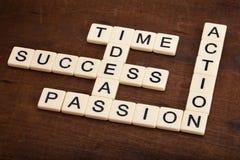 Palavras cruzadas dos componentes do sucesso Imagens de Stock