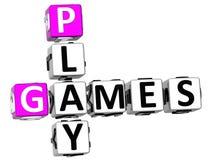 palavras cruzadas dos jogos do jogo 3D Imagens de Stock Royalty Free