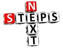 palavras cruzadas dos passos seguintes 3D Imagem de Stock
