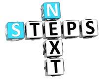 palavras cruzadas dos passos seguintes 3D Fotografia de Stock