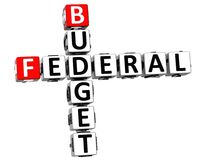 palavras cruzadas federais do texto do orçamento 3D Foto de Stock Royalty Free