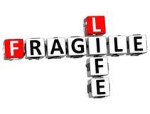 palavras cruzadas frágeis da vida 3D Imagem de Stock Royalty Free