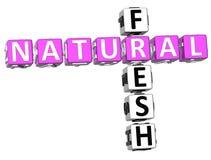 Palavras cruzadas frescas naturais Ilustração Stock