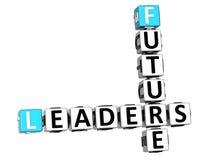 palavras cruzadas futuras dos líderes 3D Imagens de Stock