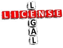 Palavras cruzadas legais da licença Fotografia de Stock