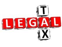 Palavras cruzadas legais do imposto Foto de Stock Royalty Free