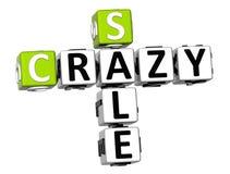 palavras cruzadas loucas da venda 3D Foto de Stock Royalty Free