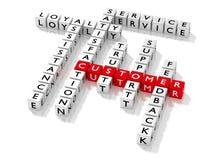 Palavras cruzadas que mostram palavras-chaves do cliente como dados Fotos de Stock Royalty Free