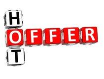 palavras cruzadas quentes da oferta 3D no fundo branco Imagem de Stock